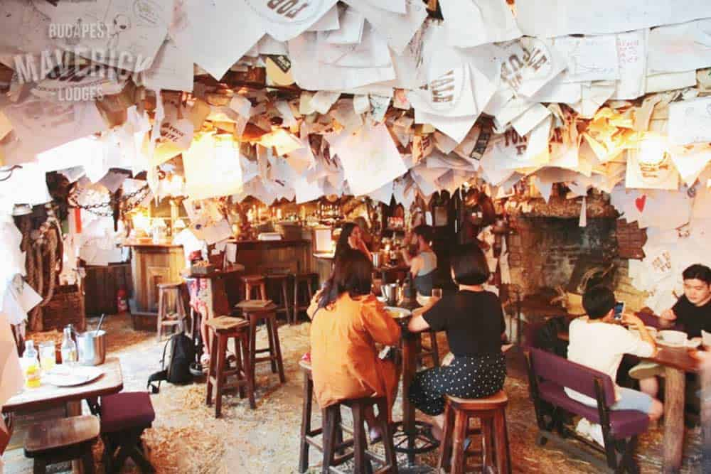 Visit the ruin bars in Budapest