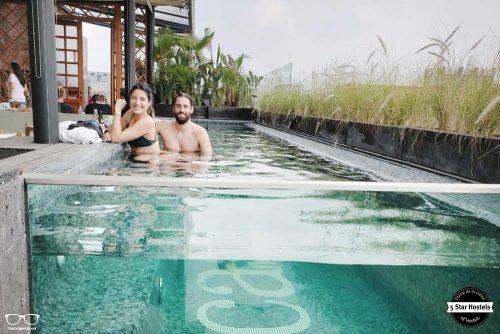Refresh at the pool at Casa Pepe, Mexico City