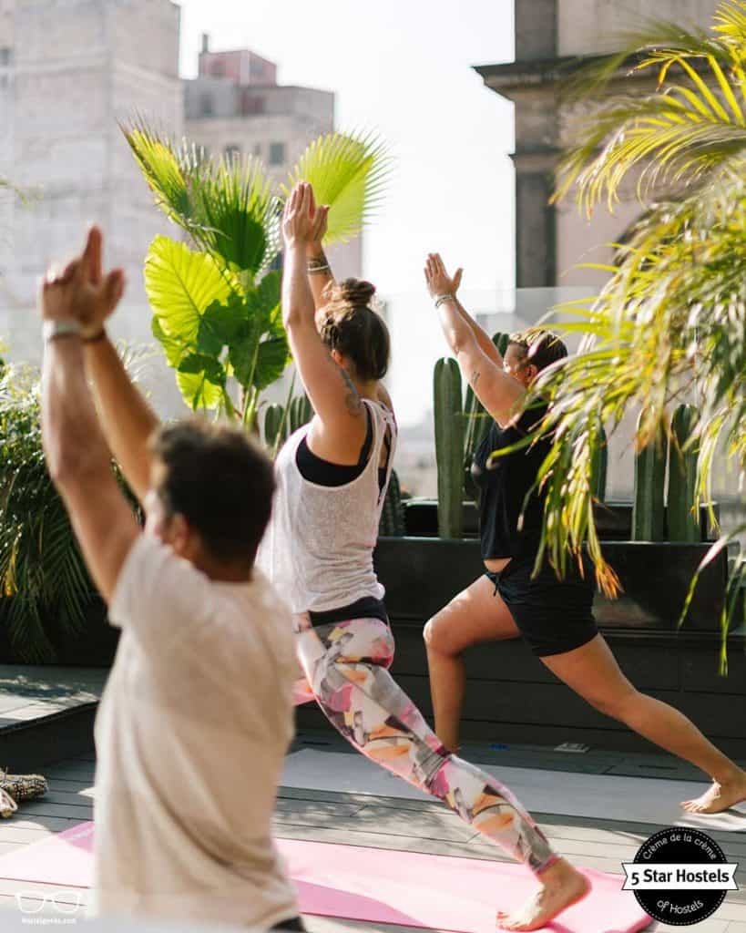 Yoga classes at Casa Pepe, Mexico City