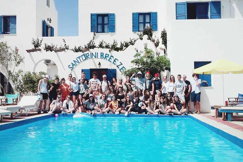 Santorini backpackers hostel Greece
