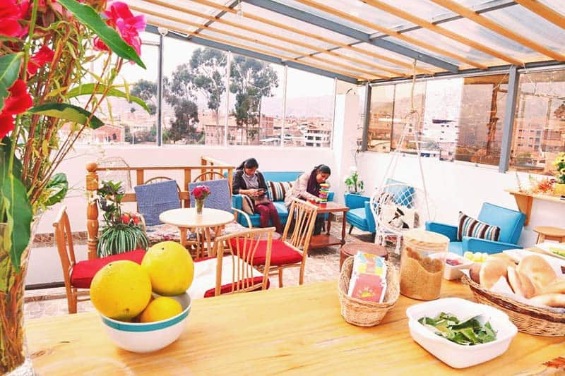 At Andean Rooftop Guesthouse, they serve daily continent breakfast at the rooftop