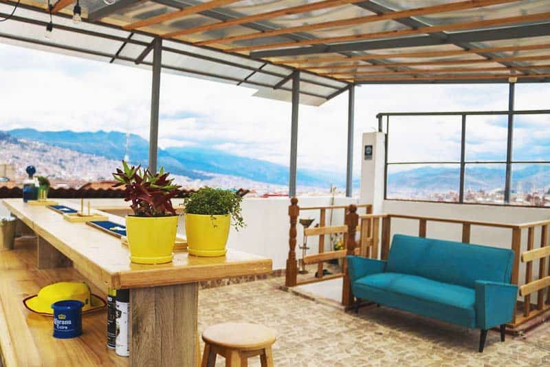 Don't miss the perfect view of the city at Andean Rooftop Guesthouse