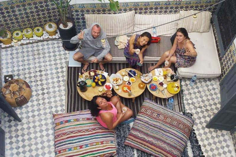 Backpackers enjoying the Boho 27 Hostel