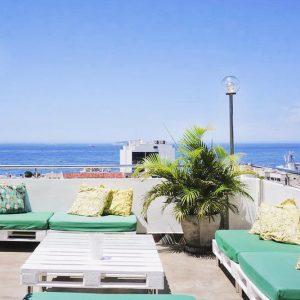 Rooftop at Aquarela do Leme hostel Rio de Janeiro