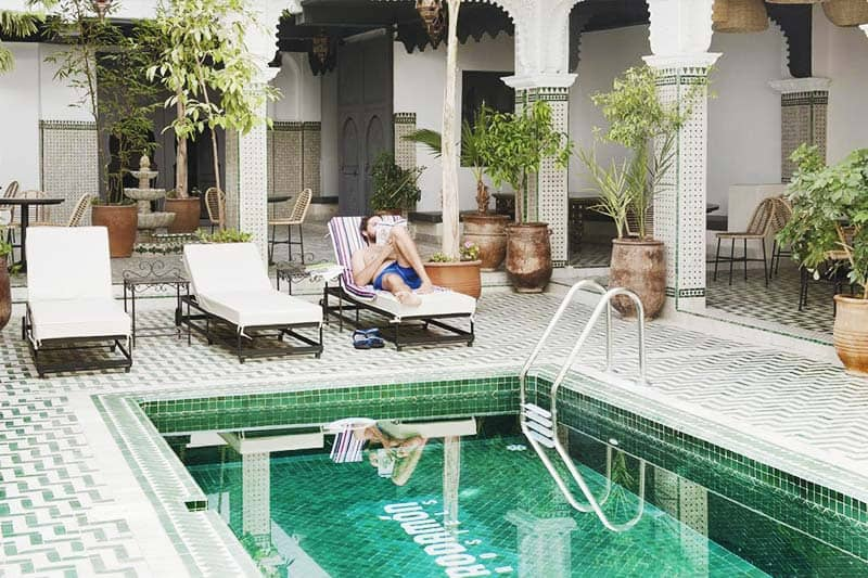 Kick back and enjoy a great swimming pool hostel in Marrakech