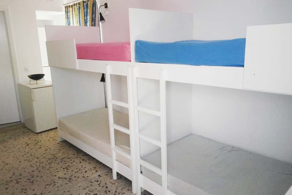 Dorm at fira backpackers place, basic hostel in Santorini