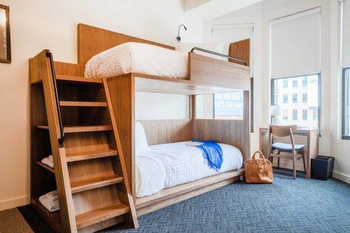Cozy dorm at Found Hotel Chicago