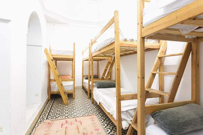 Dorm at Earth Hostel, a great backpacker hostel in marrakech