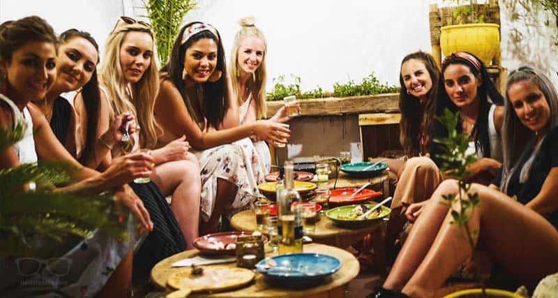 Female Solo Travellers enjoying Boho 27 Hostel in Marrakech