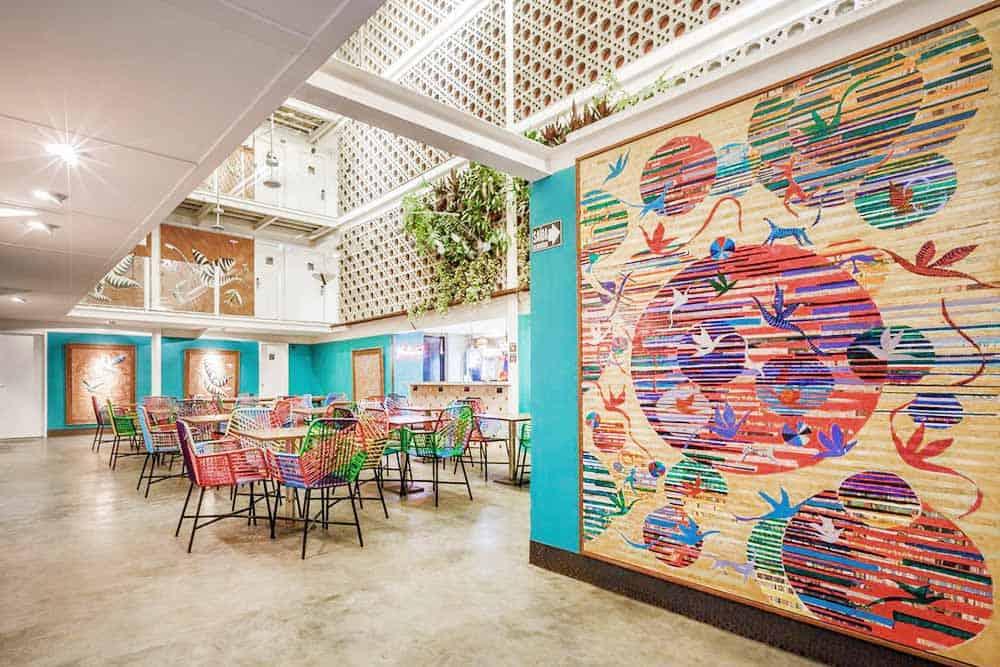 colorful Da Lapa design hostel rio de janeiro