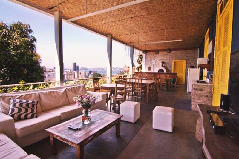 Feel the outdoor ambiance and chill at the Terra Brasilis Hostel