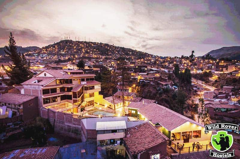 Experience the amazing view at Wild Rover Hostel Cusco