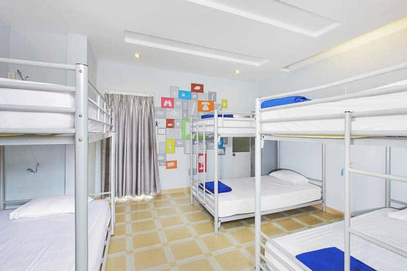 Spacious rooms at Saigon Backpackers Hostel