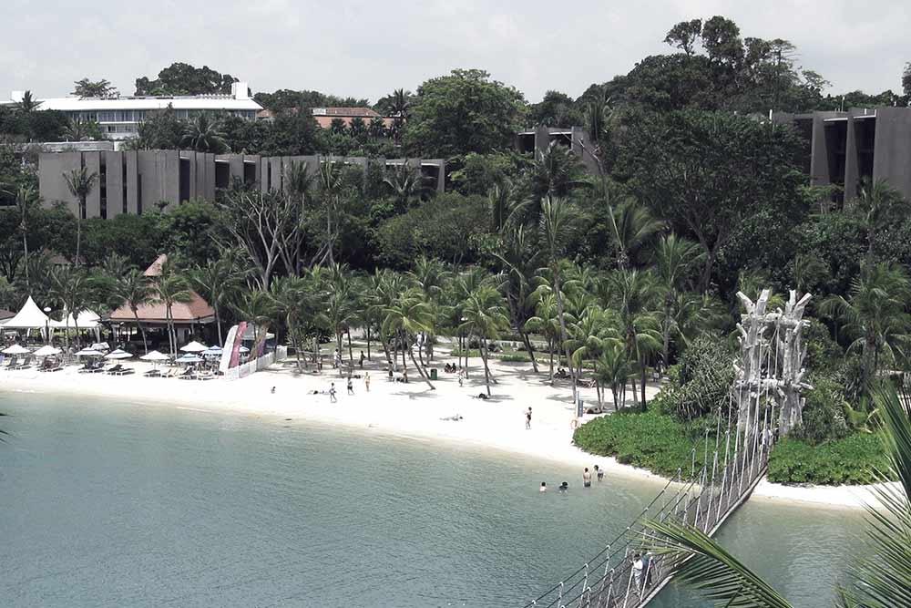 Swim in Sentosa Island