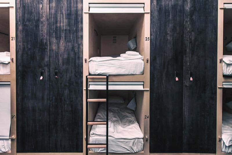 Your own privacy in a very comfortable bed in Capsule Hotel Botanist in Moscow, Russia
