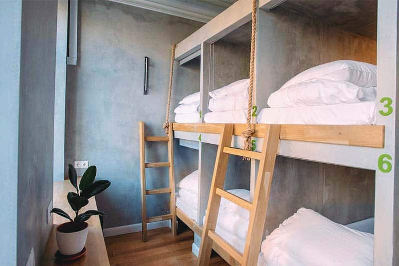Jedi Hostel's very comfortable bed bunks
