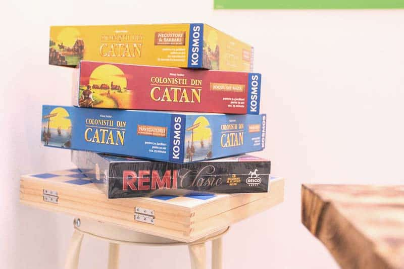 Choose among many board games at First Hostel Bucharest
