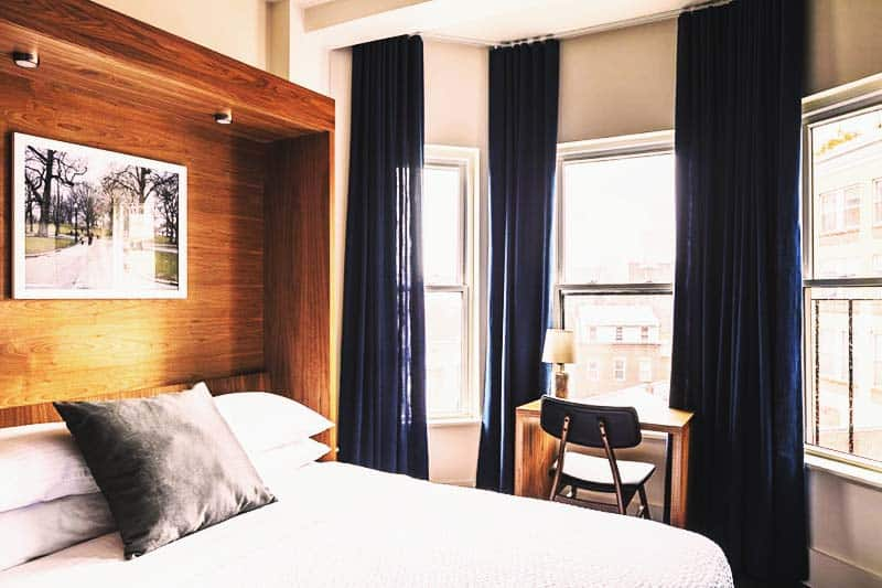 Your own private room with a view of the city at Found Hotel