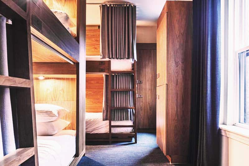 Shared rooms at Found Hotel