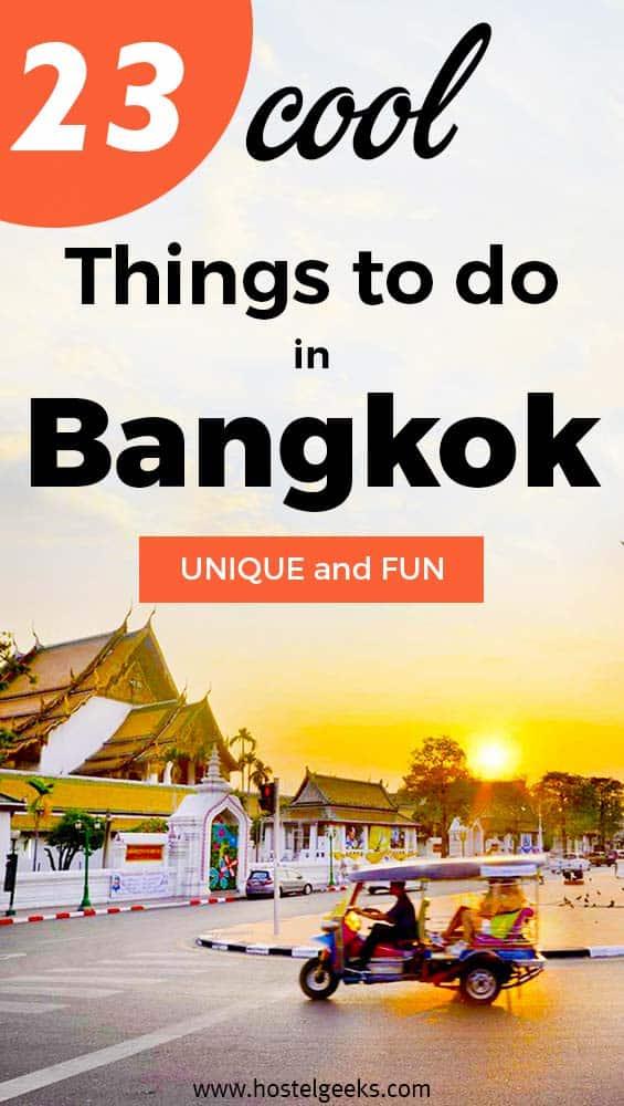 Unusual fun things to do in Bangkok