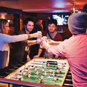 Drink while you play at Green Tortoise Hostel
