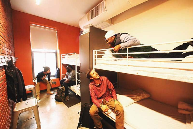 HI Boston Hostel also offers shared room for men and women