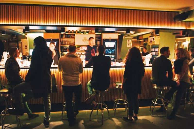 Hostel Die Wohngemeinschaft Cafe transformed into a bar