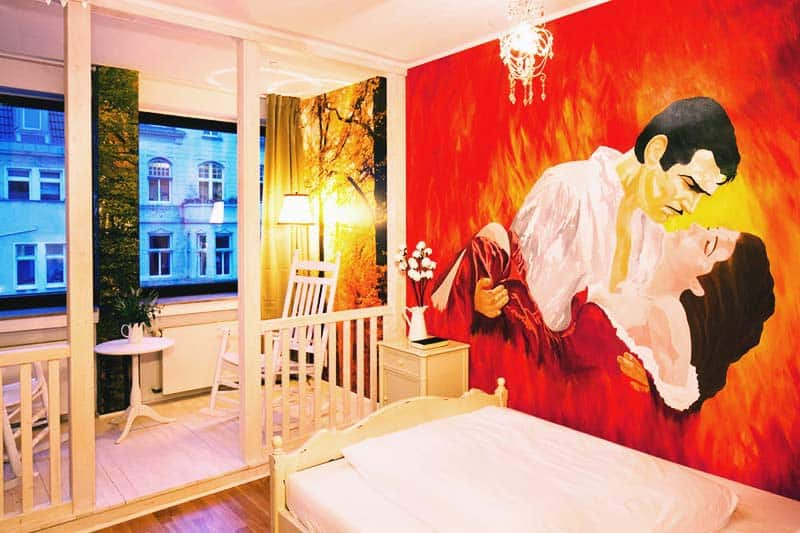 Romantic Country House themed room at Hostel Die Wohngemeinschaft
