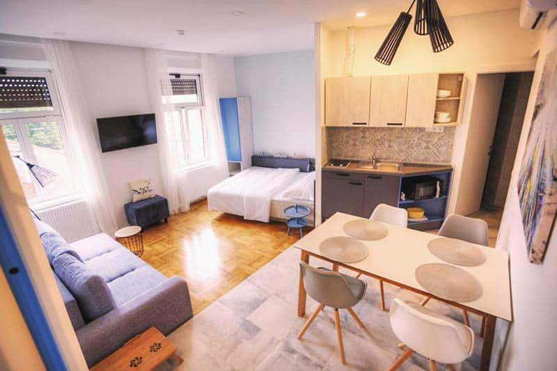 Great facilities and room space at Main Square Hostel