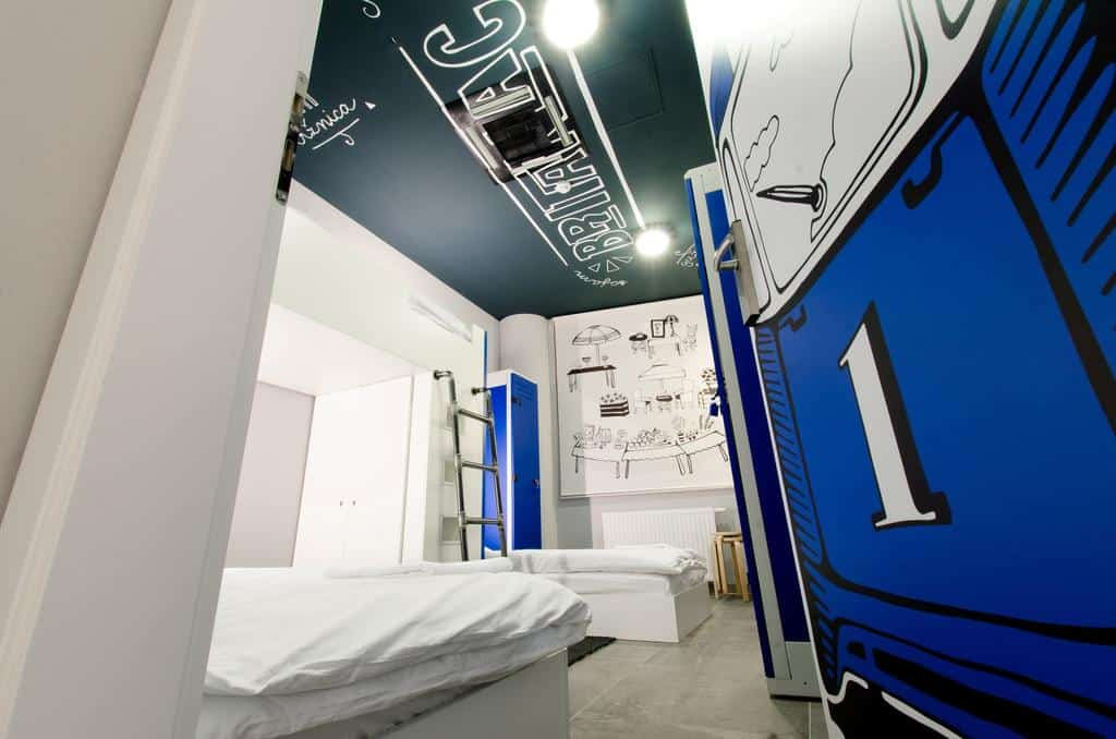 Artistic shared rooms at Main Square Hostel