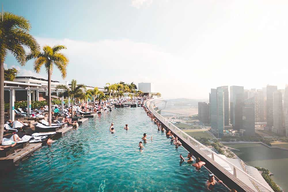 Swimming pool Marina Bays Singapore