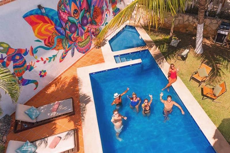 Take a fresh dip in Mezcal Hotel and Hostel's pool