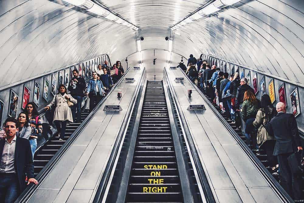 Metro in London - London itinerary