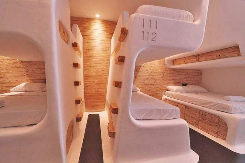 Mycocoon Hostel's futuristic rooms