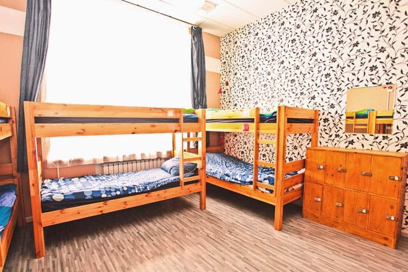 Napoleon Hostel's comfortable bunk beds