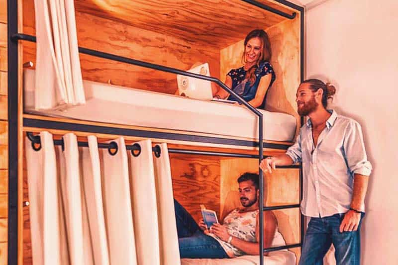 Nomads Hostel and Bar offers comfortable beds with your own privacy