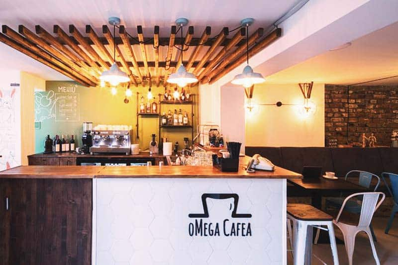 Grab your coffee while you work at Omega House
