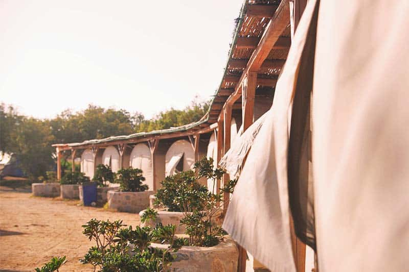 Go hippie and camp-out at Paraga Beach Hostel