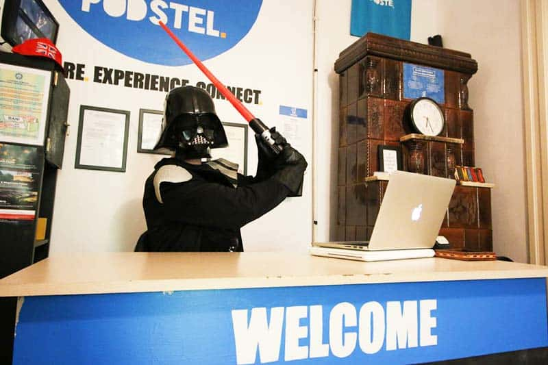 Get welcomed by their Star Wars receptionist