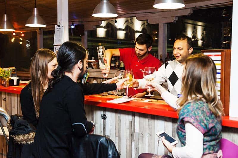 Grab your favorite cocktail at Pura Vida Sky Bar & Hostel