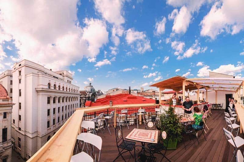 You can also see the amazing city view at Pura Vida Sky Bar & Hostel