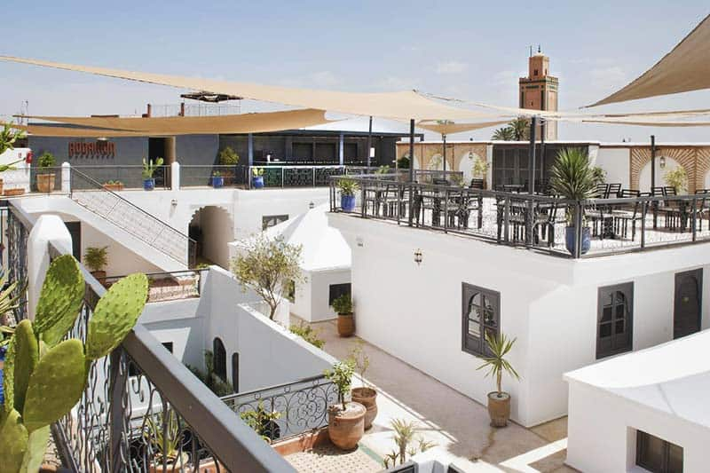 Roof Top Terrace, the best place to hang out for backpackers in Marrakech