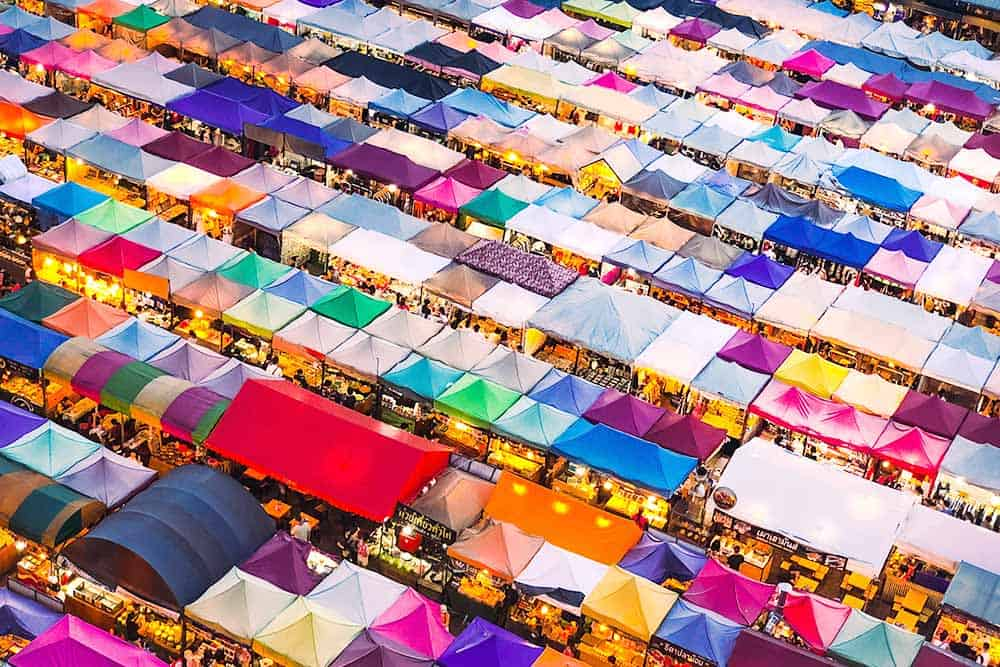 great market bangkok rod fai train market