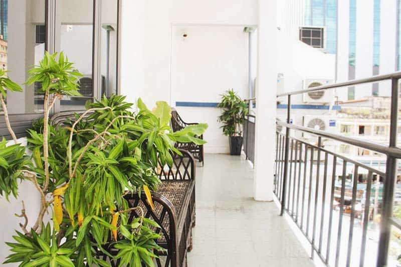 Take a deep of fresh air at The Dorm Saigon balcony