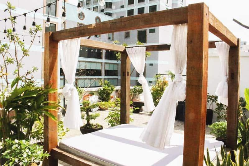 Relaxing terrace at The Dorm Saigon