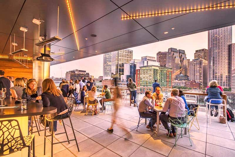 Busy nights with The Envoy Hotel's roof deck bar
