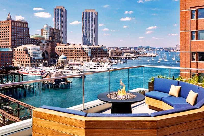 Enjoy the waterfront view from the The Envoy Hotel's rook deck