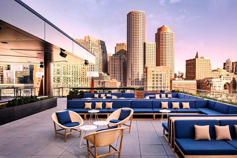 The Envoy Hotel with the magnificent view of the Waterfront District