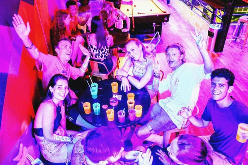 Great party acquaintances at The Hideout