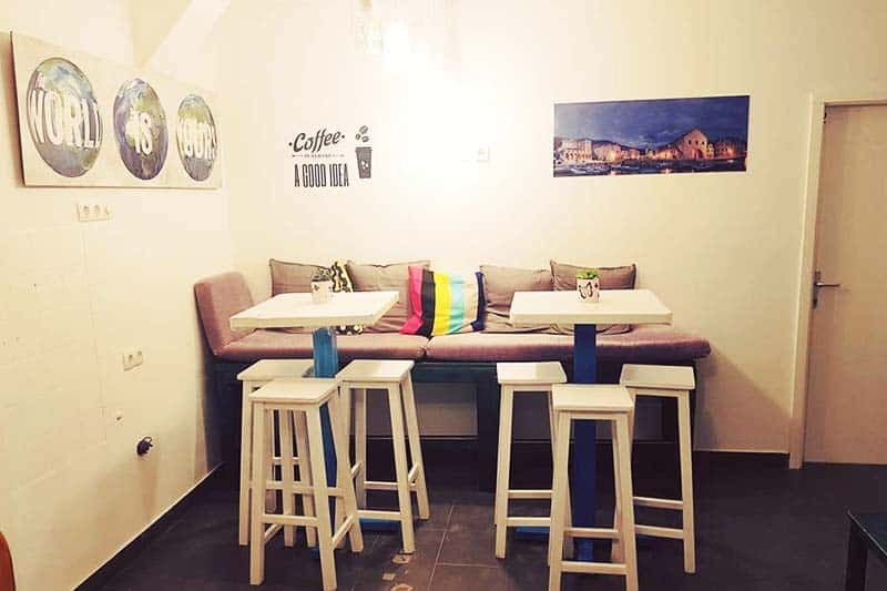 Relax and take a break at the White Rabbit Hostel lounge